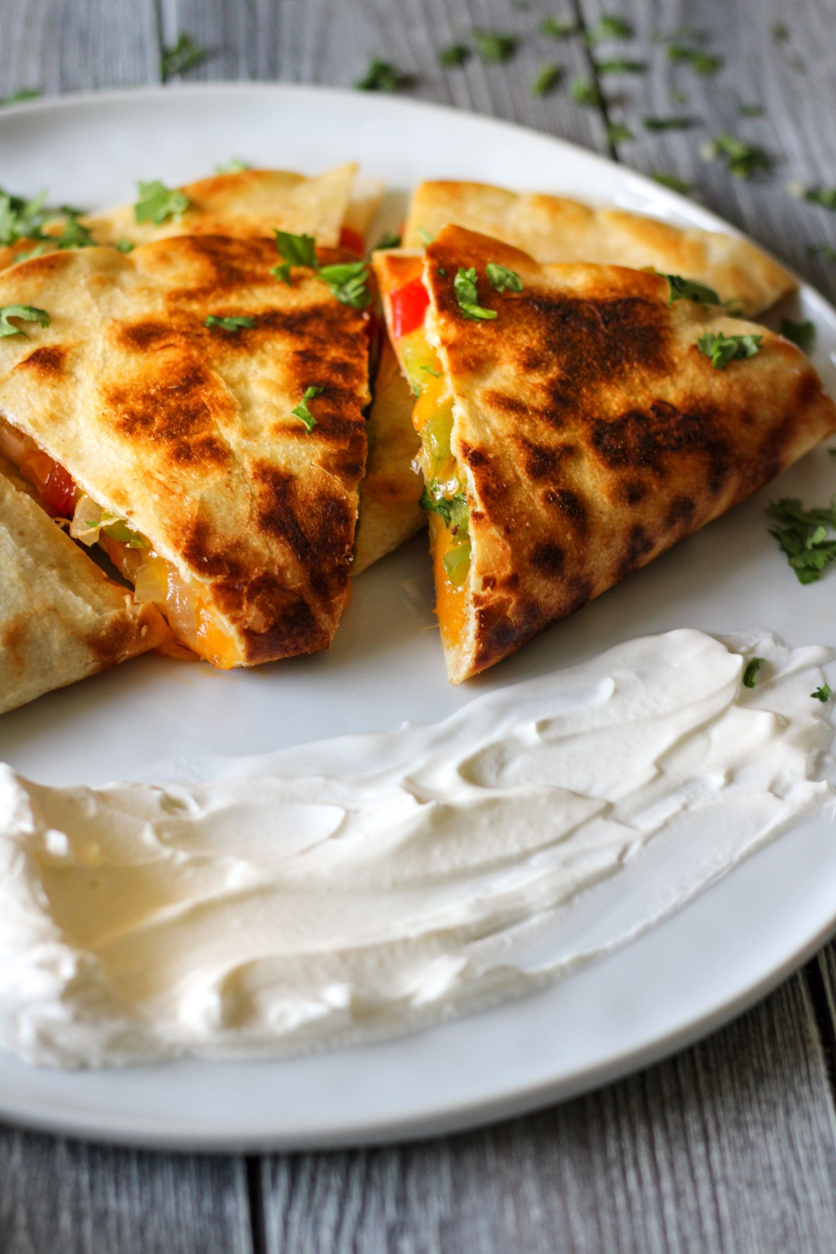 Easy Vegetarian Quesadilla My Foodie Quest